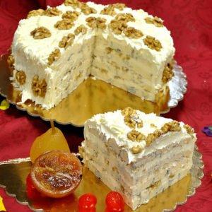 Torta al gorgonzola con noci, squisita