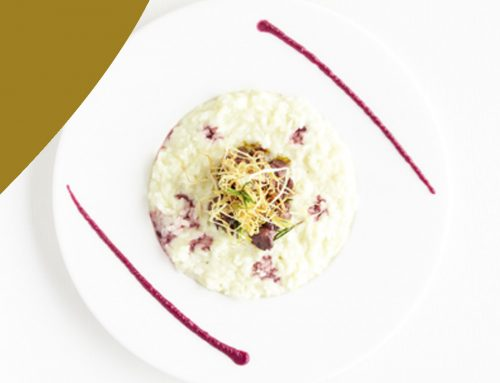 CREAMY GOAT'S CHEESE AND CRISPY LEEK RISOTTO